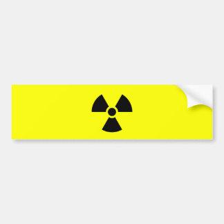 Muestra de la radiación pegatina para auto