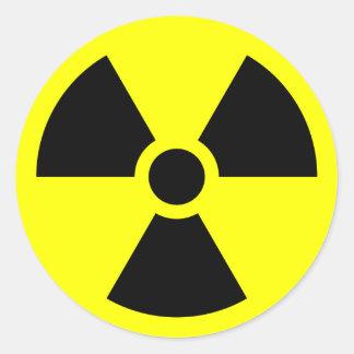 Muestra de la radiación pegatina redonda