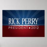 Muestra de la reunión de la campaña de Perry 2012 Posters