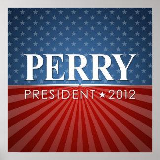 Muestra de la reunión de la campaña de Perry 2012 Póster