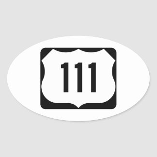 Muestra de la ruta 111 de los E.E.U.U. Pegatina Ovalada