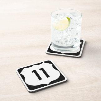 Muestra de la ruta 11 de los E.E.U.U. Posavasos De Bebida