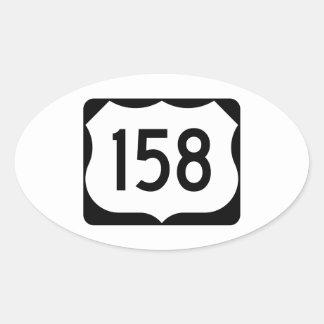Muestra de la ruta 158 de los E.E.U.U. Pegatina Ovalada