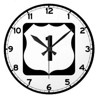 Muestra de la ruta 1 de los E.E.U.U. Reloj Redondo Grande