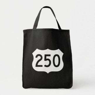 Muestra de la ruta 250 de los E.E.U.U. Bolsa Tela Para La Compra