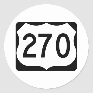 Muestra de la ruta 270 de los E.E.U.U. Pegatina Redonda