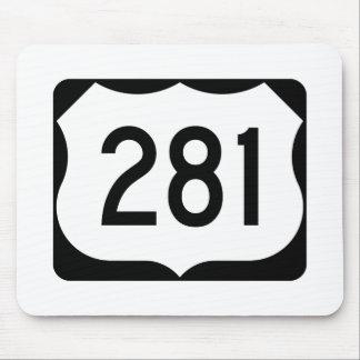 Muestra de la ruta 281 de los E.E.U.U. Mouse Pads