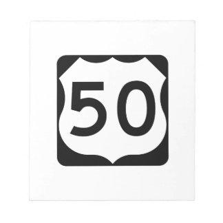 Muestra de la ruta 50 de los E.E.U.U. Blocs