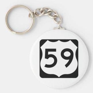 Muestra de la ruta 59 de los E.E.U.U. Llavero Redondo Tipo Pin
