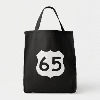 Muestra de la ruta 65 de los E.E.U.U. Bolsa Tela Para La Compra