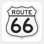 Muestra de la ruta 66 calcomania cuadradas personalizada
