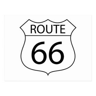 Muestra de la ruta 66 postales
