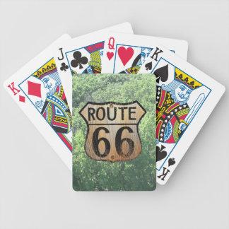 Muestra de la ruta 66 - productos múltiples baraja de cartas bicycle