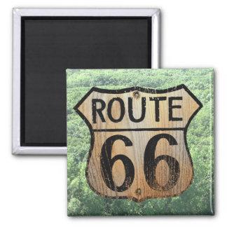 Muestra de la ruta 66 - productos múltiples imán cuadrado