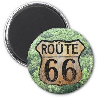 Muestra de la ruta 66 - productos múltiples imán redondo 5 cm