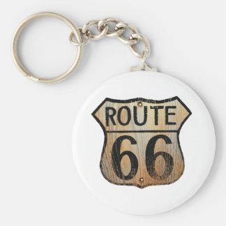 Muestra de la ruta 66 - productos múltiples llavero redondo tipo pin