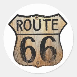 Muestra de la ruta 66 - productos múltiples pegatina redonda