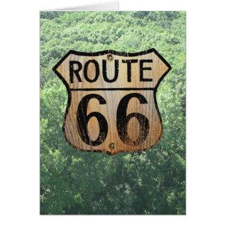 Muestra de la ruta 66 - productos múltiples tarjeta de felicitación