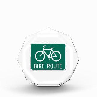 Muestra de la ruta de la bici