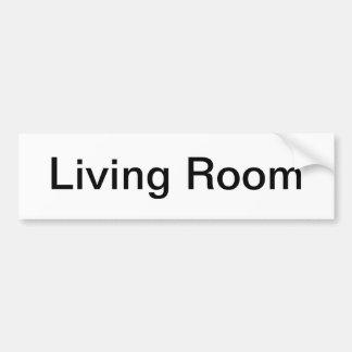 Muestra de la sala de estar etiqueta de parachoque