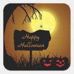 Muestra de la silueta de Halloween - pegatina