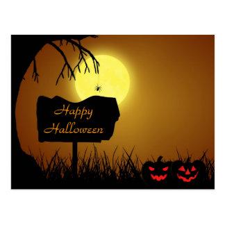 Muestra de la silueta de Halloween - postal