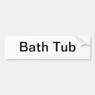 Muestra de la tina de baño etiqueta de parachoque