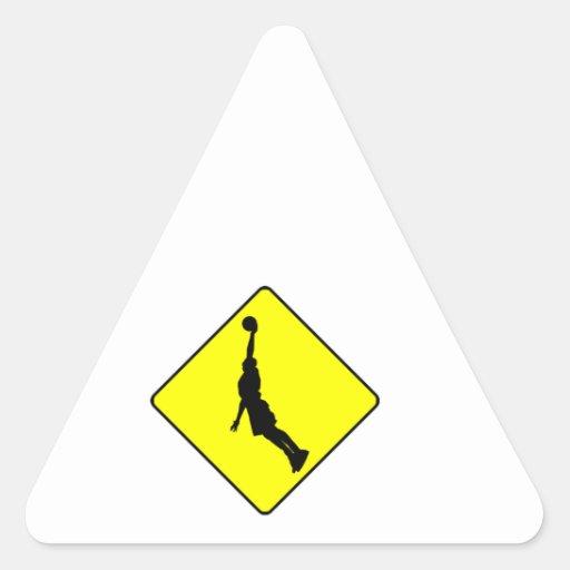 Muestra de la travesía de la clavada del pegatina triangular