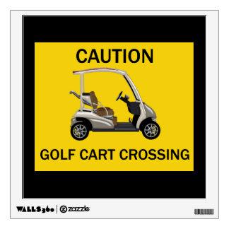 Muestra de la travesía del carro de golf de la vinilo