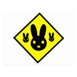 Muestra de la travesía del conejo de conejito postal