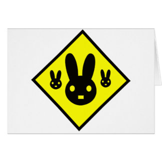 Muestra de la travesía del conejo de conejito tarjeta de felicitación