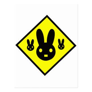 Muestra de la travesía del conejo de conejito tarjeta postal