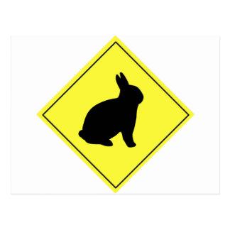 Muestra de la travesía del conejo tarjetas postales