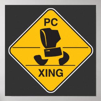 muestra de la travesía del ordenador (el xing) poster