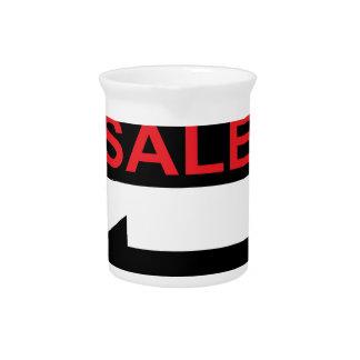 Muestra de la venta de garaje este vector de la jarrones