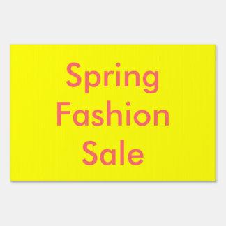 Muestra de la venta de la moda de la primavera