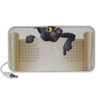 Muestra de la voluta del gato de Halloween Laptop Altavoz