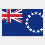 Muestra de la yarda de la bandera de la isla de co