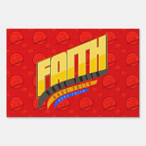 Muestra de la yarda de la fe