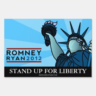Muestra de la yarda de la libertad de Romney Ryan Señales