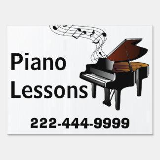 Muestra de la yarda de las lecciones de piano letreros