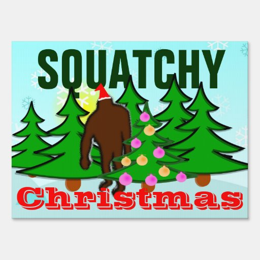 Muestra de la yarda de Squatch del navidad de Squa Señales