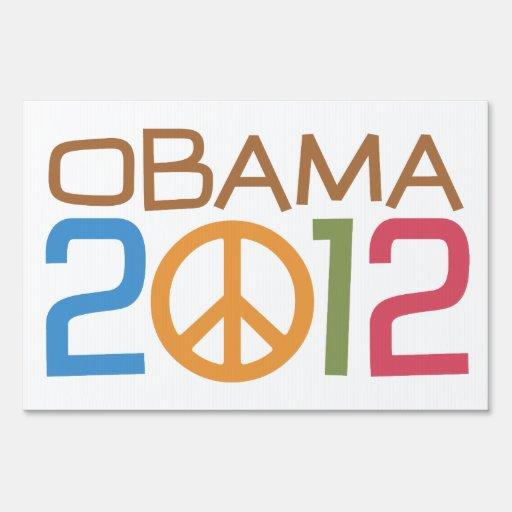 Muestra de la yarda del signo de la paz de Obama