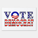Muestra de la yarda del símbolo de Demócrata Obama