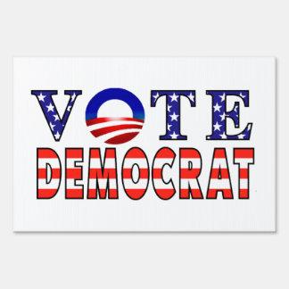 Muestra de la yarda del símbolo de Demócrata Obama Letrero