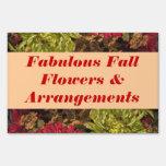 Muestra de la yarda - flores de la caída