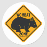 Muestra de la zona de Wombat Pegatinas Redondas