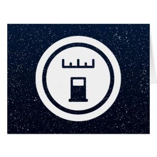 Muestra de las compañías de la gasolina tarjeta de felicitación grande