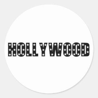 Muestra de las estrellas de Hollywood Pegatina Redonda
