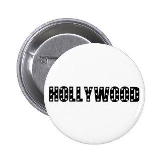 Muestra de las estrellas de Hollywood Pin Redondo De 2 Pulgadas